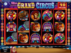 Take the Review of Grand Circus Online Pokie